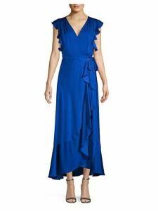 Ruffled Tie-Waist Maxi Dress