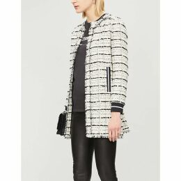 Baldanzoso frayed contrast-trim cotton-blend coat