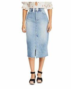 Free People Wilshire Denim Midi Skirt
