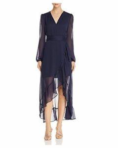 Wayf Only You Ruffled Wrap Dress