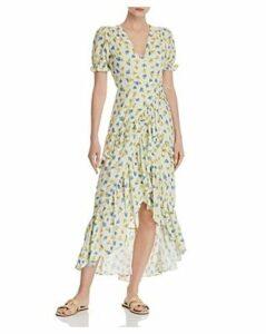 Lost + Wander Mama Mia Ruffled Floral Wrap Dress