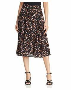 Kobi Halperin Debbie Printed-Silk Skirt