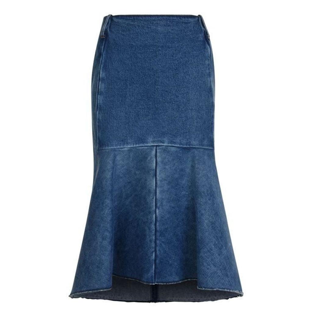 BALENCIAGA Denim Godet Skirt