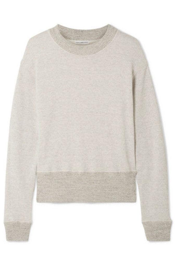 James Perse - Cotton-blend Terry Sweatshirt - Mushroom