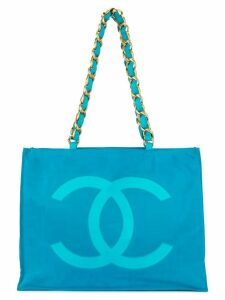 Chanel Pre-Owned chain shoulder tote bag - Blue