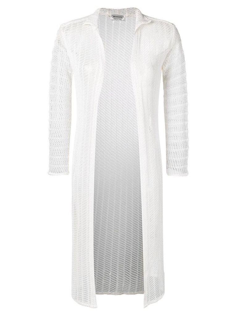 Missoni Vintage 1970's knitted coat - White