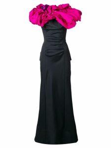 Nina Ricci Pre-Owned 2000's draped long dress - Black