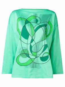 Fendi Pre-Owned 1980's abstract print T-shirt - Green