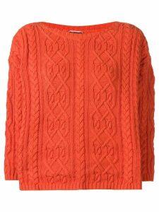 Kenzo Pre-Owned 1990's slash neck jumper - Orange