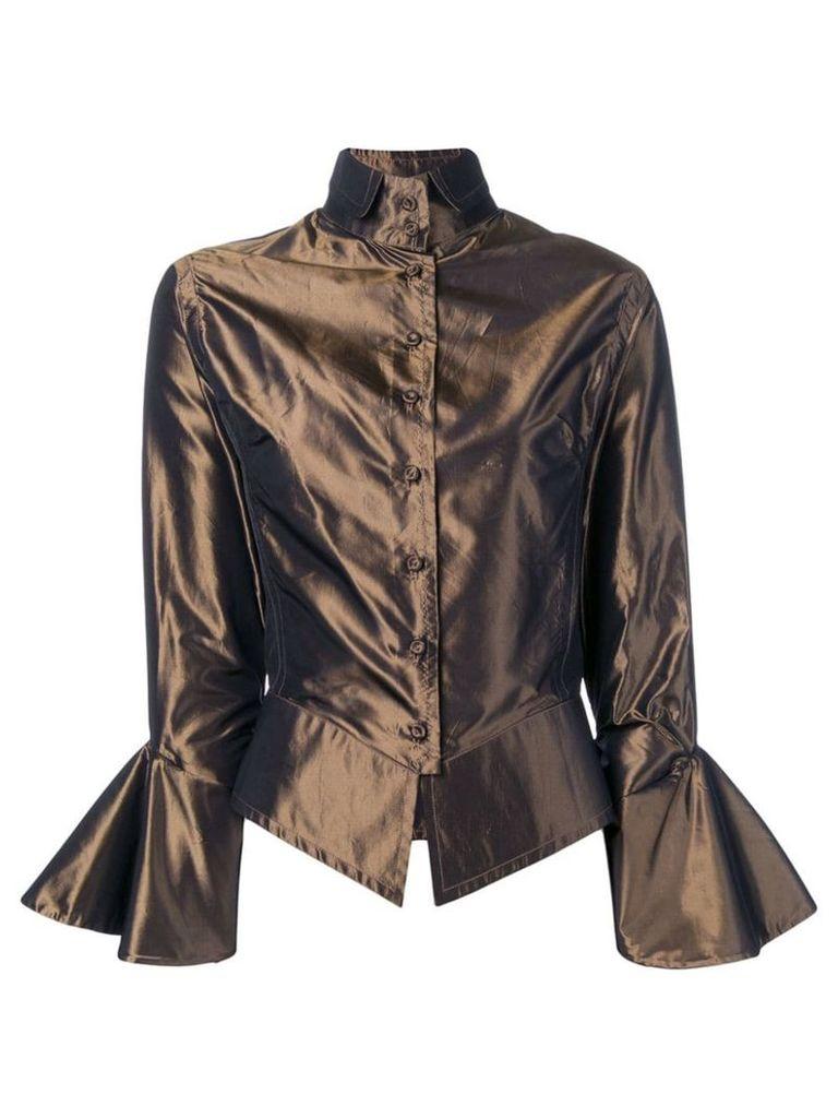 Gianfranco Ferre Vintage 2000's draped blouse - Brown