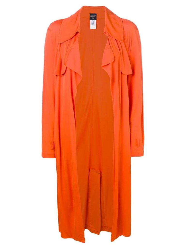 Jean Paul Gaultier Vintage 1990's draped midi coat - Orange