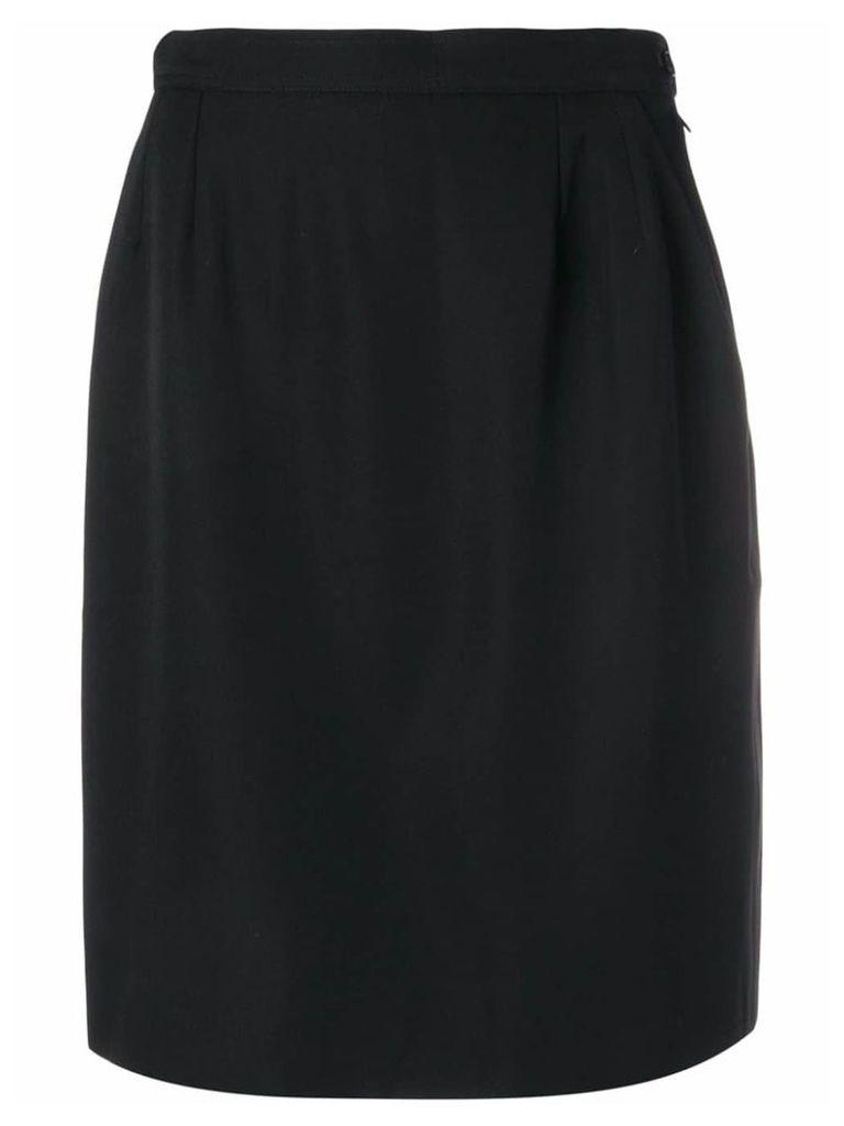 Yves Saint Laurent Pre-Owned 1980's straight skirt - Black