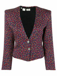 Valentino Pre-Owned 1980's floral jacket - Black
