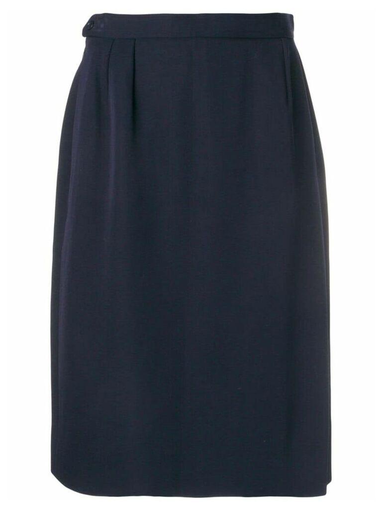 Yves Saint Laurent Pre-Owned 1980's straight skirt - Blue