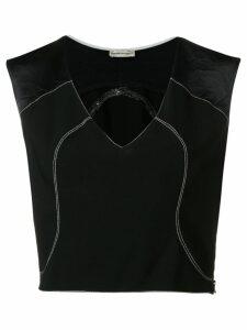 Giorgio Armani Pre-Owned 1990's cropped top - Black