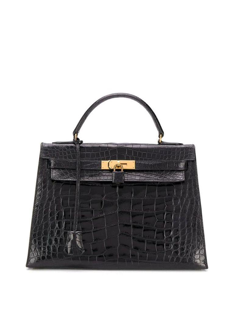 Hermès Vintage 1976 Iconic Kelly Alligator 32 cm bag - Black