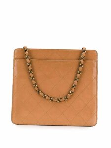 Chanel Pre-Owned Camel quilted leather shoulder bag - Brown