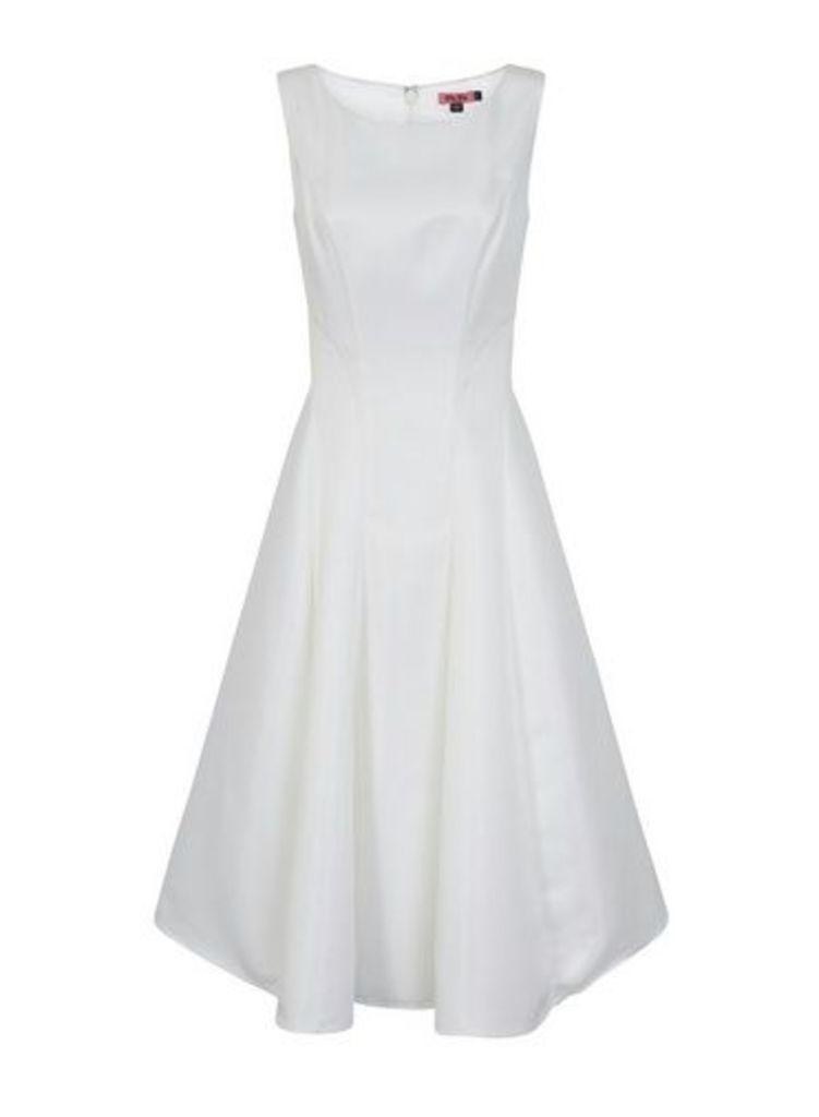 Womens *Chi Chi London White Midi Dress- White, White