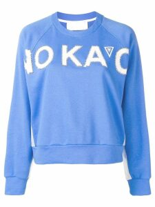 No Ka' Oi embellished logo sweatshirt - Blue