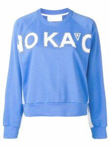 No Ka' Oi embellished logo sweatshirt - Blue