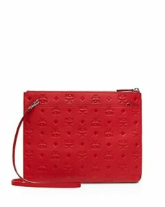 Mcm Klara Monogrammed Leather Crossbody