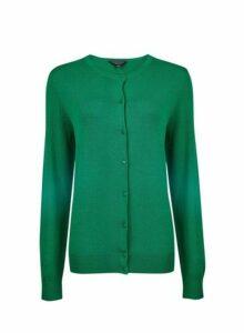 Womens **Tall Green Button Cardigan- Green, Green