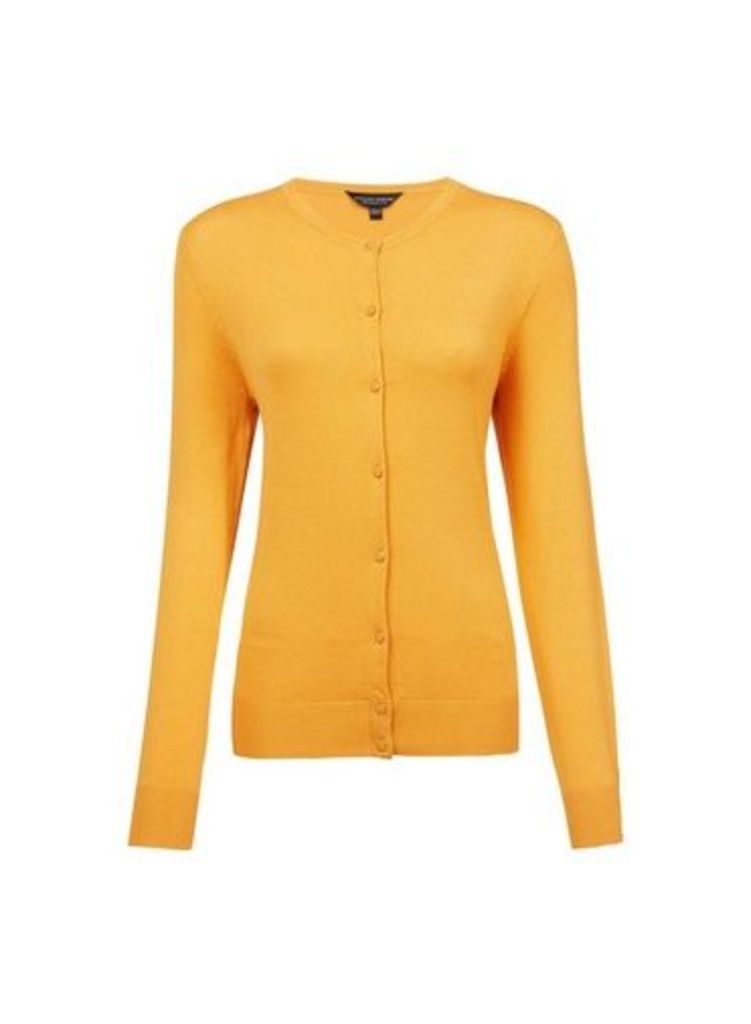 Womens Mango Button Cardigan- Orange, Orange