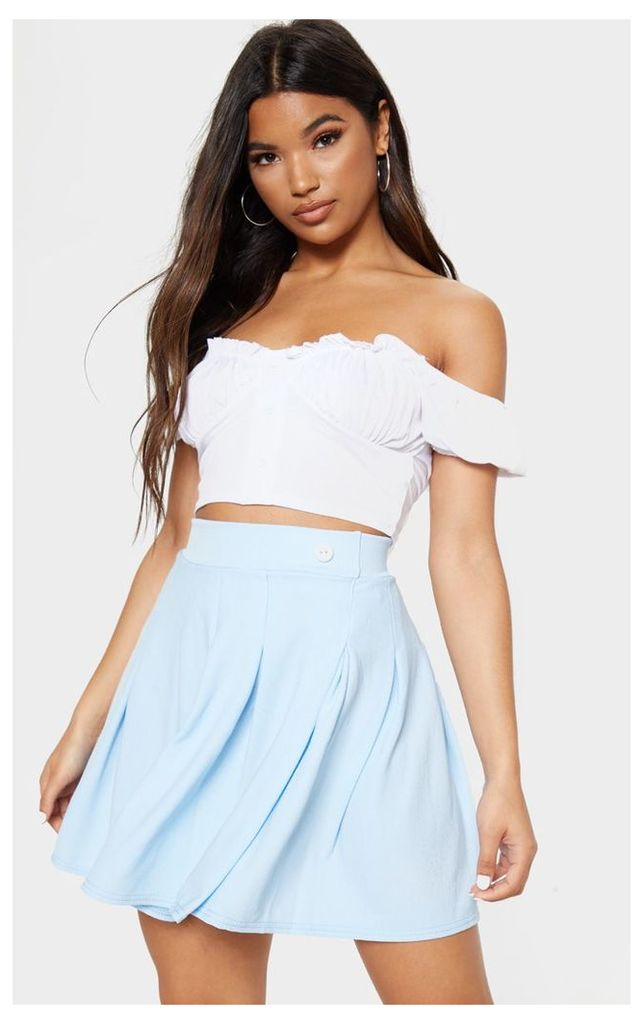 Pastel Blue Pleated Tennis Skirt, Pastel Blue
