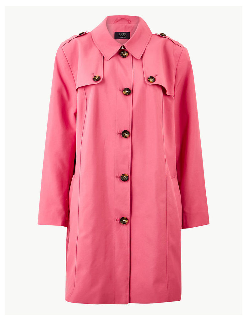 M&S Collection CURVE Trench Longline Coat
