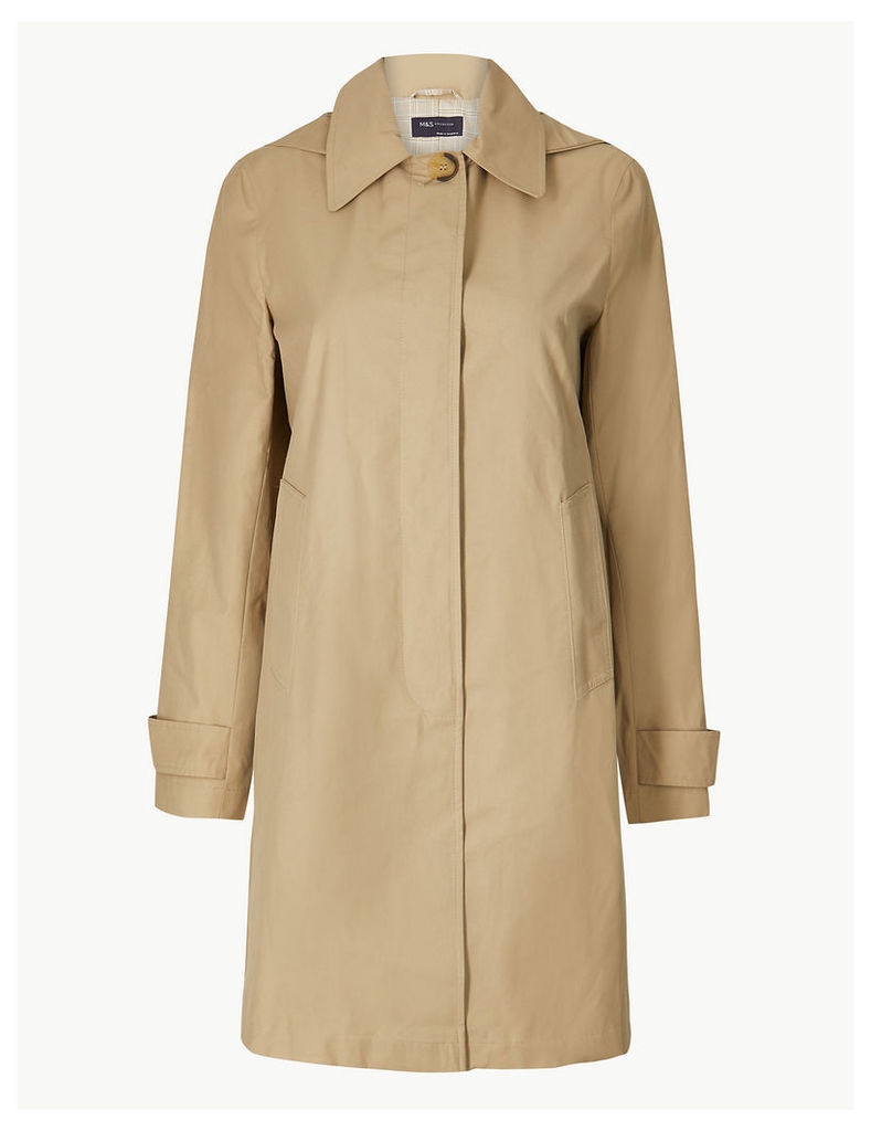 M&S Collection Button Detailed Hooded Longline Coat