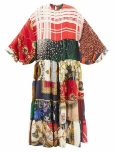 Redvalentino - Polka Dot Print Cotton Top - Womens - White Multi
