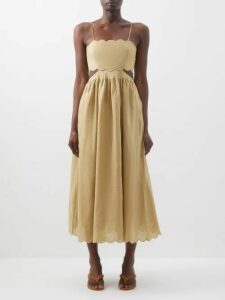 Sea - Sienna Ruffled Cotton Blend Blouse - Womens - Light Pink