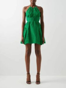 Balenciaga - Fluted Denim Midi Skirt - Womens - Denim