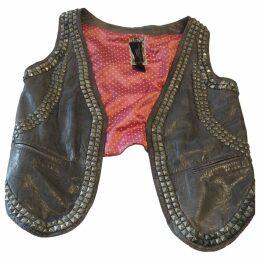 Leather cardi coat