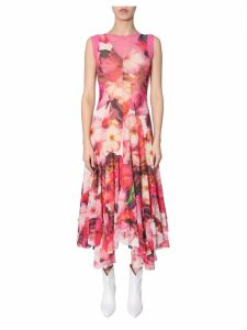 MSGM Long Dress With Floral Print