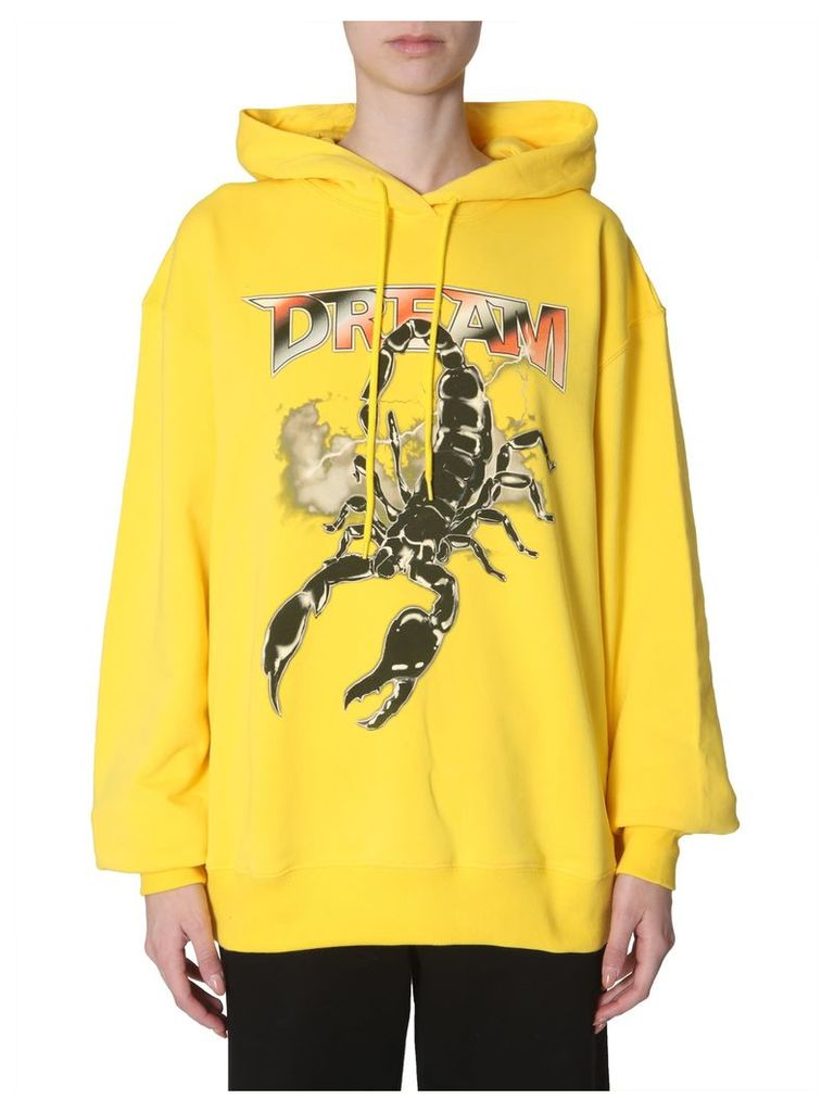 MSGM Oversize Fit Hooded Sweatshirt