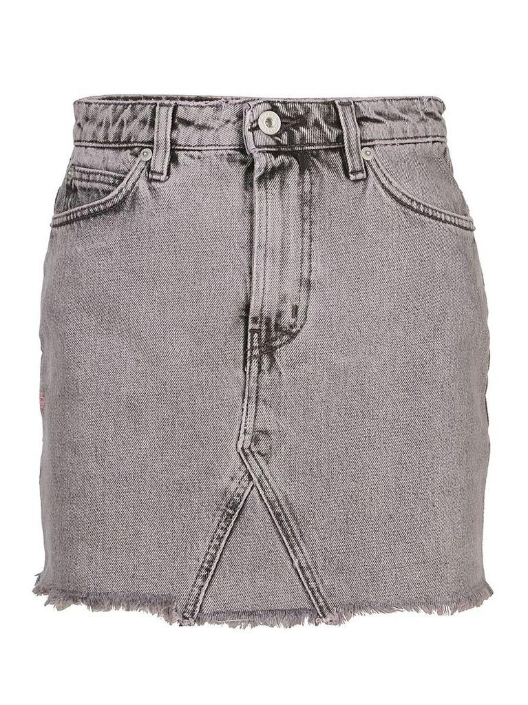 HERON PRESTON Washed Denim Skirt