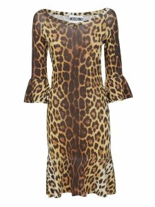 Moschino Leopard Print Dress