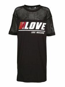 Love Moschino Mesh Insert T-shirt Dress