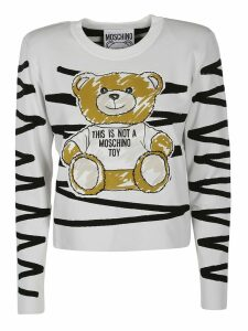 Moschino Scribble Teddy Appliqué Sweater