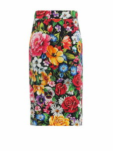 Dolce & Gabbana Floral Print Pencil Skirt