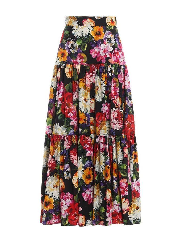Dolce Gabbana Floral Print Skirt