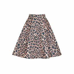 Calvin Klein 205W39NYC Leopard-print Denim Skirt