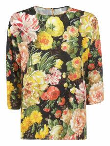 Dolce & Gabbana Flared Floral Blouse