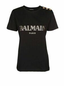 Balmain Balmain Black Cotton Jersey T-shirt