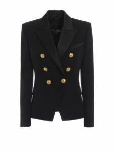 Balmain Tuxedo Double-breasted Wool Blazer