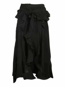 IRO Ruffled Flared Skirt