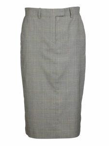 Calvin Klein Checked Slim Skirt