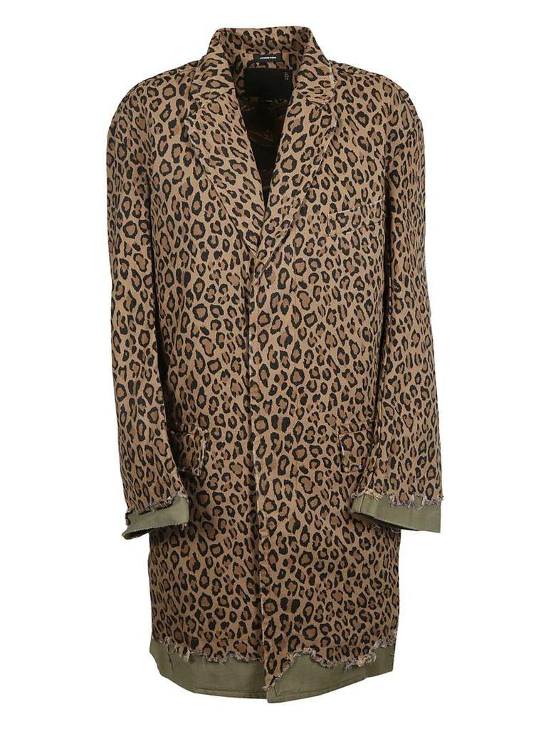 R13 Leopard Printed Coat