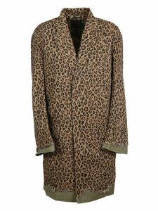 R13 Leopard Printed Coat